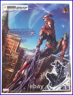 Square Enix Variant Play Arts Kai Spider-Man Symbiote Black Suit (Venom) New MIB