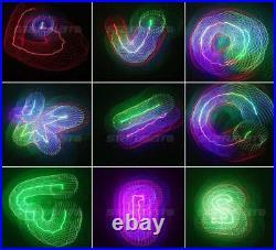 Stage lights DMX 3D Spider web Effect 450mW RGB Laser DJ Disco Party Light