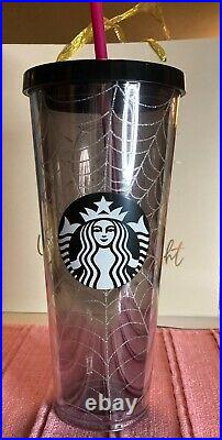 Starbucks 2019 Glitter Spider Web Tumbler 24oz