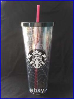 Starbucks 2019 Limited Edition Halloween Spiderweb Tumbler 24 oz