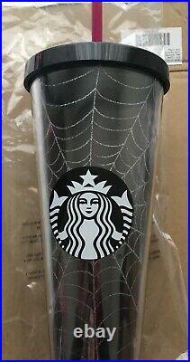 Starbucks Fall 2019 Halloween Tumbler Spiderweb 24 oz NEW