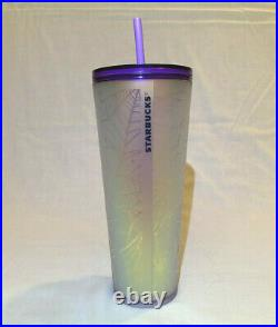 Starbucks Halloween 2021 Purple and Frosted White Spiderweb Tumbler 24oz INSURED
