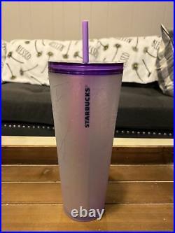 Starbucks New 2021 Purple Spiderweb 24oz Halloween Tumbler