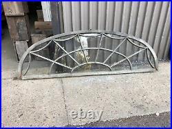 Stunning vintage c1880 arched transom window spider web design 99 x 31 x 2
