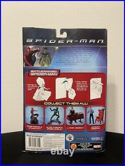 Toy Biz 2001 Spider-Man Movie Battle Ravaged Spider-Man Action Figure New