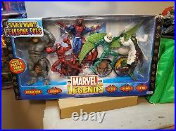 ToyBiz Marvel Legends Spider-Man Fearsome Foes Vulture Carnage Rhino Lizard MIB