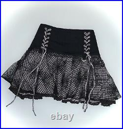 Tripp Nyc Spiderweb Lace Up Corset Gothic Mini Skirt Size Small