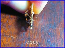 VINTAGE 14k GOLD SPIDER IN IT'S SPIDER WEB CUTE SMALLER CHARM / PENDANT