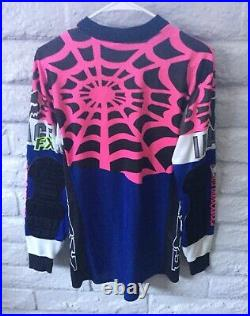 Vintage 1992 Fox Racing FX Coolmax Spider Web Motocross Jersey Medium