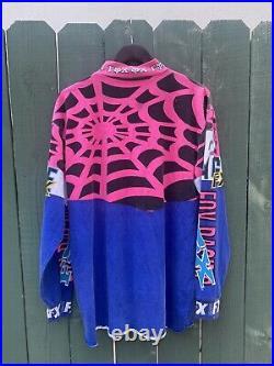 Vintage 90s Fox racing Spider web Motocross jersey rare Mens Size L
