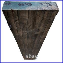 Wild Ziricote Spider Web 1.9x8.5x48KD guitar Body Billet Figured Wood