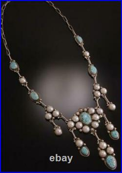 ZBM Exquisite #8 Spiderweb and Pearl Necklace by Erick Begay TO91O